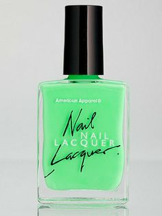 """American Apparel """"Parakeet"""" nail polish - What is it about this shade of green that's so easy on the eyes?"""