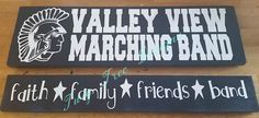 Valley View Marching band signs we put together as samples for a potential fundraiser