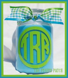 Custom Personalized Monogrammed 18oz. jar candle