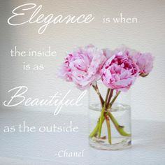 Elegance Inspiration Quote by Chanel by Fedali on Etsy, $15.00