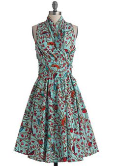 Front Perch Swing Dress, #ModCloth