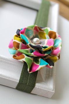 multicolor flower headband new by mariajosemonsegur on Etsy, $9.00