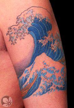 Sorce: http://springtattoo.com ------ hokusai tattoo  #tattoo #Japanese