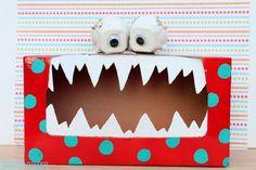 valentine box, tattl monster, craft, school, valentine day, tissue boxes, monsters, teacher, kid
