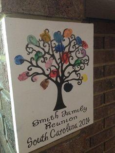 Thumbprint Family Tree #Vinyl from #PYP Cut vinyl with #Cricut