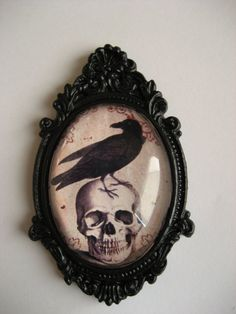 crow cameo for cameo tattoo idea