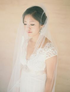 Real bride Carol in the Claire Pettibone 'Queen Anne's Lace' wedding gown | Click here to see more of this gown --> http://www.clairepettibone.com/bridal/?cp=gowns/queenanne | Photo: Lane Dittoe Fine Art Wedding Photographs via Style Me Pretty