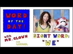 """▶ Word of the Day: Sight Word - """"We"""" - YouTube"""