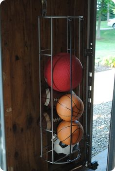 sport ball storage - elastic bands in front to make the balls easy to access