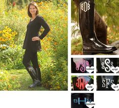 Monogrammed Boots | Fashion Boots | Zoubaby