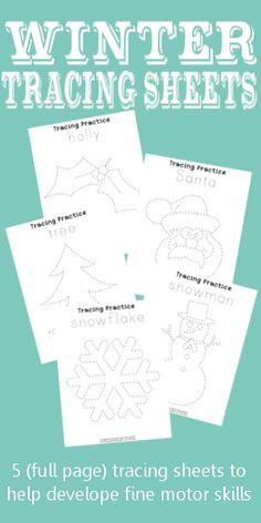 Winter Tracing Sheet