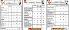 Sarah's First Grade Snippets: rubric
