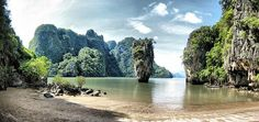 rock formations, james bond, thailand, phi phi, phi island, islands, places, bond island, jame bond