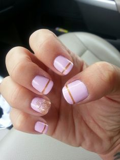 Pink & gold mani with gold glitter ombre; inspired by a picture I saw on Pinterest :)