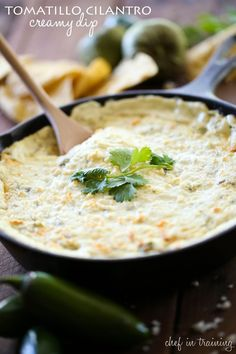 Tomatillo Cilantro Creamy Dip from chef-in-training.com ...This dip was inspired by the famous Tomatillo Dressing from Cafe Rio and it is DELICIOUS!