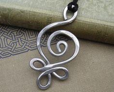 Big Celtic Pendant Necklace Budding Spiral by nicholasandfelice, $14.00