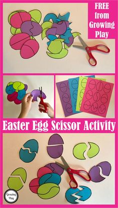 Easter Egg Scissor Activity FREE download