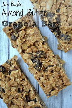 No Bake Almond Butter Granola Bars