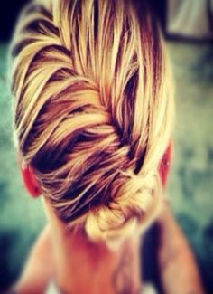 Keep your hair out of your face by braiding and pinning it back - Workout in Style