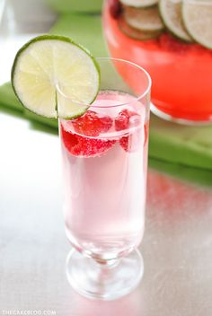 15 refreshingly bright drink recipes for summer | fizzy limeade infused with raspberries and lime zest