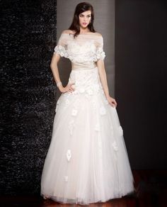 unusual wedding gown, special and unique