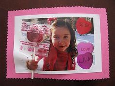 Valentine's Day Lollipop Card #valentines