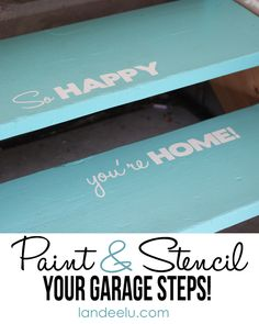 Stencil Your Garage Steps! Why not? {landeelu.com}