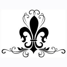fleur de lis | So the fleur de lis will be our design and a running symbol on most of ... white fleur de lis silhouette, tattoo ideas, swirl, art, a tattoo, tattoo design, fleur de lis tattoos, new tattoos, ink
