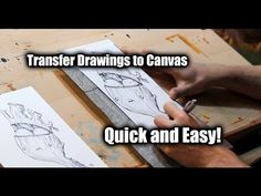▶ How to Transfer Your Sketch to Canvas - Justin Hillgrove - Imps and Monsters - YouTube