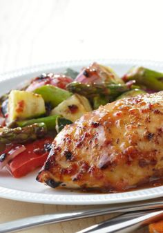 Grilled Chicken with Savory Summer Vegetables