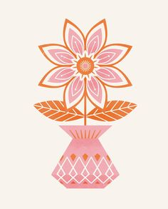 Flower and Vase No.1 print - Clairice Gifford
