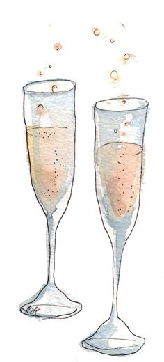 champagne sketch
