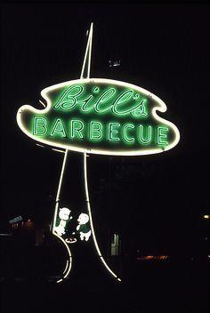 Bill's Barbecue, Richmond, VA, 1992 by Dean Jeffrey, via Flickr