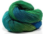 Beautiful hand dyed cotton yarn sold on Etsy by NothingButString