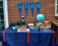 Dean's list themed first birthday party! #firstbirthday #party #themes