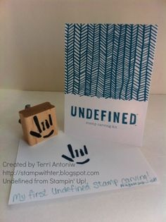 Undefined Stamp Carving Set by Stampin' Up! Carved by Terri Antoniw  http://stampwithter.blogspot.com