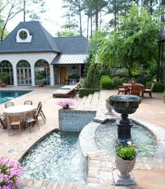 Great pool house and spa!