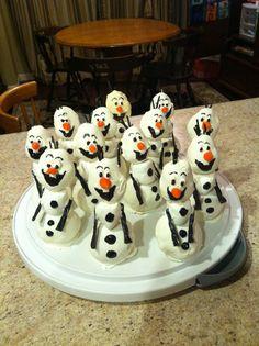"""... Olof"""" (Disney's Frozen) cake pops for the girls Frozen birthday ..."""