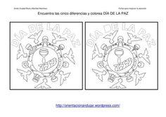 Les 7 diferències, dibuixos Dia de la Pau.