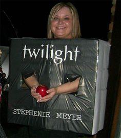 Ha! Clever Twilight book costume.