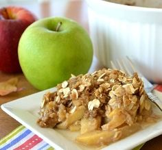 "Mom's Apple Crisp: ""The apples were perfect and melted into the brown sugar and rolled oat crust, which was rich, soft and crunchy with excellent texture."" —Baby Kato"
