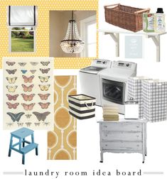 laundry-room idea board