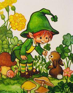Vintage Irish Leprechaun Card