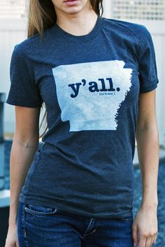 Y'all Arkansas T-Shirts for BourbonandBoots.com