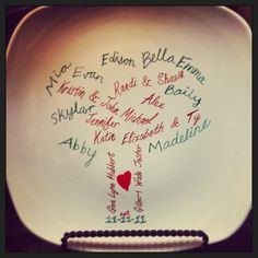 DIY family tree plate