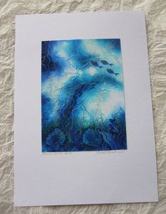 Art Abstract Painting Original Watercolor by TheGoldenTrees, €70.00