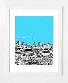 Kansas City Skyline Art Print: Bird Ave.