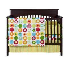 Colorful crib bedding
