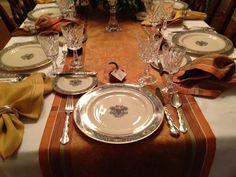 """Lenox Autumn"" place setting at Thanksgiving."