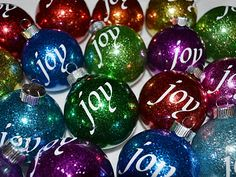 Glitter ornaments with vinyl